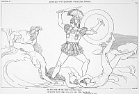 0014674 © Granger - Historical Picture ArchiveHOMER: THE ILIAD.   Achilles contending with the Rivers. Line engraving, 1793, by Thomas Piroli after John Flaxman.