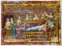 0116836 © Granger - Historical Picture ArchiveTHE DEATH OF DIDO.   Illumination from a Latin manuscript of the 'Aeneid,' c400 A.D.