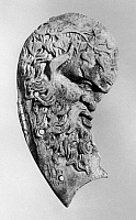 0118438 © Granger - Historical Picture ArchiveSILENUS OR AGE.   Age portrayed as a drunk Silenus, follower of Dionysus, the Greek god of wine. Ivory relief, Athens, Greece, 2nd century B.C.