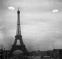 0049872 © Granger - Historical Picture ArchiveUFO: PARIS.   Photograph of UFOs in Paris, France.