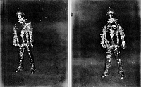 0216283 © Granger - Historical Picture ArchiveALABAMA: ALIEN, 1973.   An alien allegedly photographed by a police officer on a highway in Falkville, Alabama, October 1973.