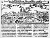 0015777 © Granger - Historical Picture ArchiveAUSTRIA: EARTHQUAKE, 1590.   Announcement on a contemporary German broadside of the earthquake at Vienna, Austria on 15 September 1590.