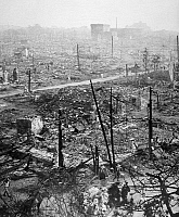 0077341 © Granger - Historical Picture ArchiveTOKYO EARTHQUAKE, 1923.   Half of Tokyo in ruins after the fire which followed the earthquake of 1 September 1923. The view from Uyeno Station looking towards the center of the city. Photograph.
