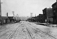 0092583 © Granger - Historical Picture ArchiveSAN FRANCISCO EARTHQUAKE.   Ninth Street between Brannan and Bryant Streets, following the earthquake of 18 April 1906.