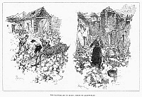 0092660 © Granger - Historical Picture ArchiveSPAIN: EARTHQUAKE, 1885.   Ruins of Albanuelas, Spain, following the earthquake of 1885. Contemporary engraving from an English newspaper.
