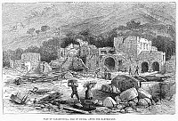 0092679 © Granger - Historical Picture ArchiveITALY: EARTHQUAKE, 1881.   Part of Casamicciola, on the Italian island of Ischia, after an earthquake. Wood engraving, 1881.