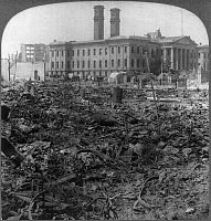 0119414 © Granger - Historical Picture ArchiveSAN FRANCISCO EARTHQUAKE.   The United States Mint building amid the ruins, following the earthquake of 18 April 1906.