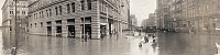 0130078 © Granger - Historical Picture ArchivePITTSBURGH: FLOOD, 1907.   Panoramic view of Fifth Street and Liberty Street in Pittsburgh, Pennsylvania, during the flood of 1907.