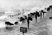 0173481 © Granger - Historical Picture ArchiveSOUTH CAROLINA: HURRICANE.   A hurricane on the coast of Charleston, South Carolina, near the Hotel Fort Sumter. Photograph, mid 20th century.