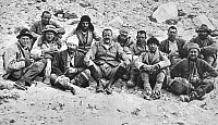 0000176 © Granger - Historical Picture ArchiveMOUNT EVEREST EXPEDITION.   The 1922 British expedition to Mount Everest. First row, from left: George Mallory, George Ingle Finch, Tom George Longstaff, C. Geoffrey Bruce, Edward L. Strutt, Colin Grant Crawford. Second row, from left: Henry T. Morshead, J.G. Bruce, Arthur William Wakefield, Howard Somervell, John Morris, and Edward F. Norton.