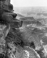 0128412 © Granger - Historical Picture ArchiveGRAND CANYON, c1906.   A view of Hanging Rock on the Grand View Trail, overlooking the Grand Canyon in Arizona. Photographed c1906.