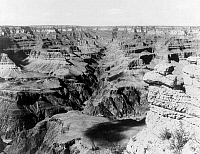 0128888 © Granger - Historical Picture ArchiveGRAND CANYON, c1902.   A view of Bright Angel Canyon, a tributary of the Grand Canyon in Arizona. Photographed c1902.
