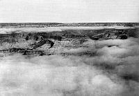 0129233 © Granger - Historical Picture ArchiveGRAND CANYON, c1905.   Fog over the Grand Canyon in Arizona. Photographed c1905.