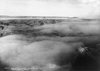 0129235 © Granger - Historical Picture ArchiveGRAND CANYON, c1905.   Fog over the Grand Canyon in Arizona, near the El Tovar Hotel. Photographed c1905.
