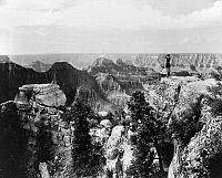 0129252 © Granger - Historical Picture ArchiveGRAND CANYON, c1922.   A view of the Grand Canyon in Arizona, from Bright Angel Point. Photographed c1922.