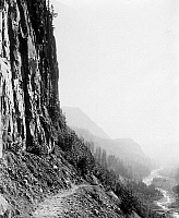 0131368 © Granger - Historical Picture ArchiveMOUNT RAINIER NATIONAL PARK.   View of Glacier Trail in Mount Rainier National Park, Washington State. Photograph, c1909-1932.