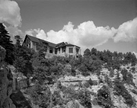 0621256 © Granger - Historical Picture ArchiveGRAND CANYON: LODGE, 1982.   Grand Canyon Lodge on the North Rim, Grand Canyon. Photograph by Richard Frear, 1982.