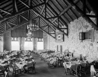 0621258 © Granger - Historical Picture ArchiveGRAND CANYON: LODGE, 1982.   Interior of the dining room at Grand Canyon Lodge on the North Rim, Grand Canyon, Arizona. Photograph by Richard Frear, 1982.