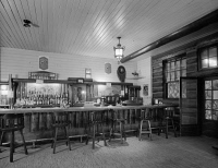 0621259 © Granger - Historical Picture ArchiveGRAND CANYON: LODGE, 1982.   Interior of the saloon at Grand Canyon Lodge, North Rim, Grand Canyon, Arizona.