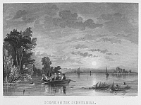 0097749 © Granger - Historical Picture ArchiveSCHUYLKILL RIVER, c1830.   Scene on the Schuylkill River, Pennsylvania. Steel engraving, c1830.