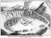 0099511 © Granger - Historical Picture ArchiveSICILY: POZZUOLI, 1719.   Camp at the Phlegraean Fields (Campi Flegrei), a volcanic area near Puzzuoli, Sicily. Line engraving, 1719.