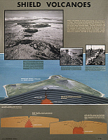 0165887 © Granger - Historical Picture ArchiveSHIELD VOLCANOS.   Diagram illustrating the formation of shield volcanos, broad low volcanos built of basaltic lava, c1970.