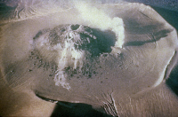0180565 © Granger - Historical Picture ArchiveJAPAN: VOLCANO.   Aerial view of fumaroles in the crater of an active volcano on the island of Hokkaido, Japan. Photograph, 20th century.