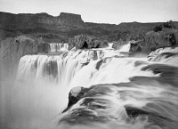 0125289 © Granger - Historical Picture ArchiveIDAHO: SHOSHONE FALLS.   View across the top of Shoshone Falls on the Snake River in southern Idaho. Photographed by Timothy H. O'Sullivan, 1874.