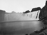 0125296 © Granger - Historical Picture ArchiveIDAHO: SHOSHONE FALLS.   A view of Shoshone Falls on the Snake River in southern Idaho. Photographed by Timothy H. O'Sullivan, 1868.