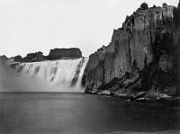 0125297 © Granger - Historical Picture ArchiveIDAHO: SHOSHONE FALLS.   A view of Shoshone Falls on the Snake River in southern Idaho. Photographed by Timothy H. O'Sullivan, 1868.