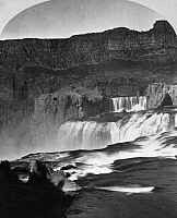 0125306 © Granger - Historical Picture ArchiveIDAHO: SHOSHONE FALLS.   View across the top of Shoshone Falls on the Snake River in southern Idaho. Stereograph, 1874, by Timothy H. O'Sullivan.