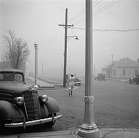 0127602 © Granger - Historical Picture ArchiveDUST BOWL, 1936.   Scene in Amarillo, Texas, during a dust storm. Photographed by Arthur Rothstein, April 1936.