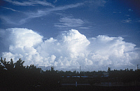 0165986 © Granger - Historical Picture ArchiveFLORIDA: CLOUDS, 1977.   Cumulonimbus clouds over Fort Lauderdale, Florida. Photograph, 1977.