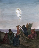 0433232 © Granger - Historical Picture ArchiveTHE ASCENSION.   Christ ascending to heaven. Illustration, c18th century.