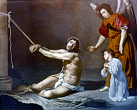 0019521 © Granger - Historical Picture ArchiveVELAZQUEZ: FLAGELLATION.   'Christ After the Flagellation Contemplated by the Christian Soul.' Oil on canvas, Diego Velazquez, 1628-29. RESTRICTED OUTSIDE US.