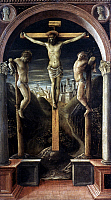 0022690 © Granger - Historical Picture ArchiveCRUCIFIXION.   Vincenzo Foppa. Oil on panel, 1456.