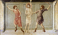 0050361 © Granger - Historical Picture ArchiveJESUS: FLAGELLATION.   Panel, c1317-27, by Ugolino Di Nerio.