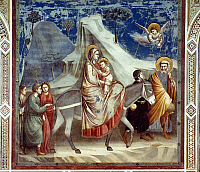 0046358 © Granger - Historical Picture ArchiveFLIGHT INTO EGYPT.   Fresco by Giotto in the Scrovegni Chapel, Padua, c1305.