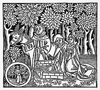 0323309 © Granger - Historical Picture ArchiveFLIGHT INTO EGYPT.   Woodcut from the 'Novum beate marie virgis psalterium,' published in Zinna, Germany, c1495.