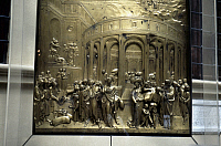 0064256 © Granger - Historical Picture ArchiveSTORY OF JOSEPH.   Lorenzo Ghiberti (1370-1455). Bronze panel (detail) from baptistry in Florence.