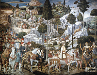 0023295 © Granger - Historical Picture ArchiveGOZZOLI: MAGI.   'Journey of the Magi.' Fresco by Benozzo Gozzoli in the Palazzo Medici Riccardi, Florence, Italy, c1459-62.