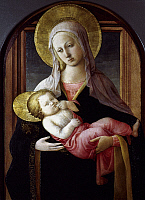 0019785 © Granger - Historical Picture ArchiveLIPPI: MADONNA.   'The Virgin and Child.' Tempera on wood ascribed to Fra Filippo Lippi, c1455. RESTRICTED OUTSIDE US.