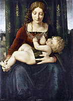 0019977 © Granger - Historical Picture ArchiveVIRGIN AND CHILD.   Oil on wood by Giovanni Antonio Boltraffio, c1495. RESTRICTED OUTSIDE US.
