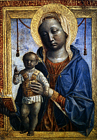 0047690 © Granger - Historical Picture ArchiveMADONNA OF THE BOOK.   Panel, c1480, by Vincenzo Foppa.