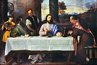 0039814 © Granger - Historical Picture ArchiveTITIAN: SUPPER AT EMMAUS.   Oil on canvas.