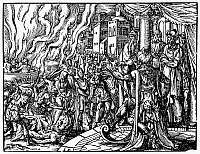 0042850 © Granger - Historical Picture ArchiveMACCABEES: MARTYRDOM.   The 'Martyrdom of the Holy Maccabees.' Engraving after Josephus Flavius, 1580.