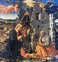 0024800 © Granger - Historical Picture ArchiveTHE NATIVITY.   'The Nativity.' Panel, Fra Diamante, c1465.