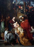 0350654 © Granger - Historical Picture ArchiveADORATION OF THE MAGI.   'The Adoration of the Magi.' Oil on canvas, Peter Paul Rubens, c1619.