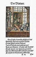0104335 © Granger - Historical Picture ArchiveARMORER, 1568.   Woodcut, 1568, by Jost Amman.
