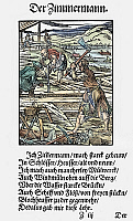 0075161 © Granger - Historical Picture ArchiveCARPENTERS, 1568.   Woodcut, 1568, by Jost Amman.